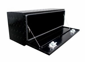 48in Black Aluminum Underbody Tool Box Atv Pickup Rv trailer Truck