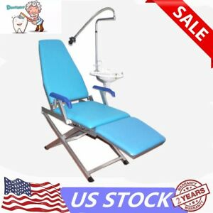 Dental Portable Folding Chair Unit Flushing Water Supply System Led Light