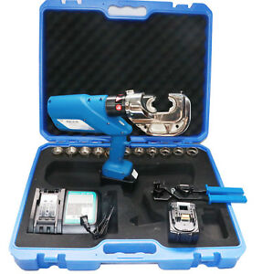 16 400mm Rechargeable Electric Hydraulic Plier Battery Powered Crimping Tool