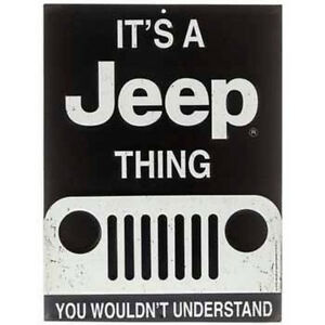 It S A Jeep Thing Embossed Metal Signs Decor Emblem Man Cave Decor Ford Chevy