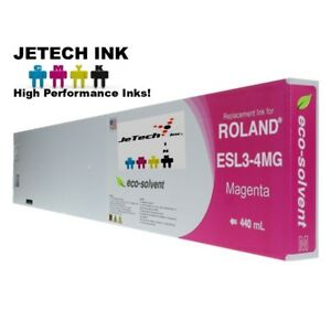 Roland Esl3 4 Eco solvent Max Compatible 440ml Ink Cartridge Magenta