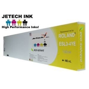 Roland Esl3 4 Eco solvent Max Compatible 440ml Ink Cartridge Yellow