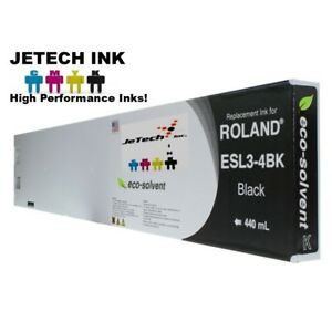 Roland Esl3 4 Eco solvent Max Compatible 440ml Ink Cartridge Black