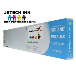 Roland Esl3 4 Eco solvent Max Compatible 440ml Ink Cartridge Light Cyan