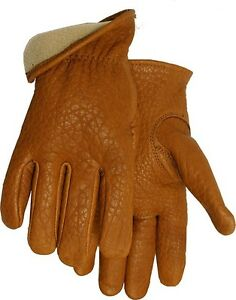 Insulated Work Gloves Men Xl Winter Best Hard Work Premium Bison Leather Usa