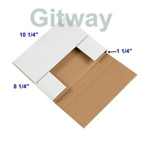 50 10 1 4 X 8 1 4 X 1 1 4 Multi Depth Cardboard Book Mailer Shipping Box Boxes