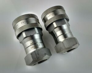Lot 2 Eaton Aeroquip Fd45 1005 12 12 Stainless Fnpt Hydraulic Quick Coupling New