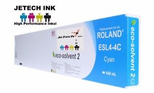 Roland Esl4 4 Eco solvent Max2 Compatible 440ml Ink Cartridge Cyan