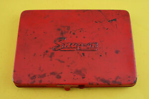 Vintage Snap On Tools Kra 275 Red Metal Box For 1 4 Drive Set Empty Case Only