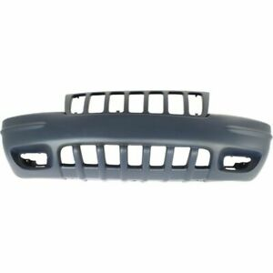 New Ch1000266 Front Bumper Cover Primed Plastic For Grand Cherokee 1999 2000