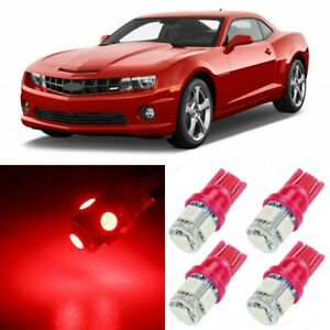 7 X Ultra Red Interior Led Lights Package For 2010 2015 Chevy Camaro Tool