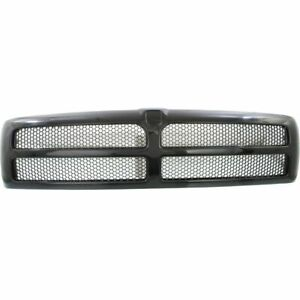 New Textured Black Plastic Grille With Honeycomb Insert For Ram 1500 1994 1998