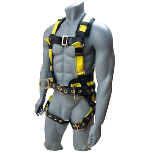Msa Fall Protection Workman Construction Harness Side D Rings Standard Size