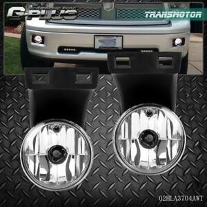 For 94 01 Dodge Ram 1500 2500 3500 Pickup Bumper Driving Fog Lights Lamps Chrome