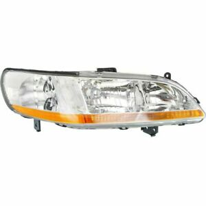 For Accord 98 00 Passenger Side Headlight Clear Lens