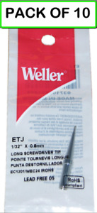 10 pack Weller Etj Flat Original Solder Tip For Pes51 Wes51 Special