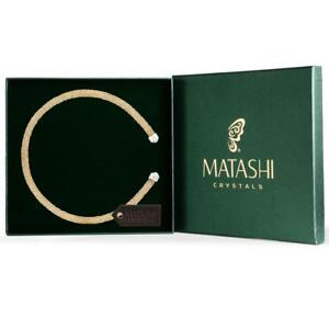 Gold Glittery Luxurious Crystal Bangle Bracelet By Matashi