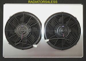 New Aluminum Radiator Fan Shroud Chevy Camaro 1982 1992 Firebird With 12 Fans
