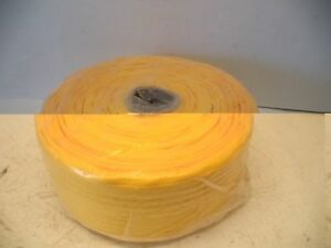 Large Roll Of Yellow 3 4 Nylon Straping 13 1 2 Diameter 6 Thick 3 1 4 Bore