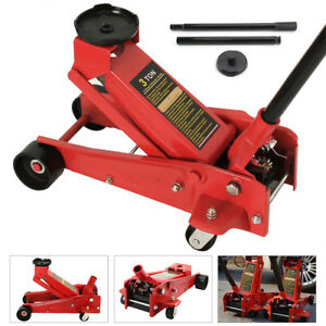 3 Ton 6000lb Floor Jack Steel Low Profile Quick Pump Lifting Car Garage Red Usa