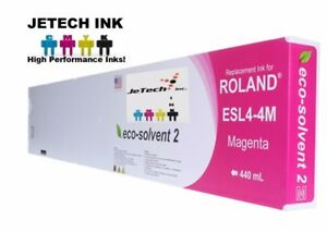 Roland Esl4 4 Eco solvent Max2 Compatible 440ml Ink Cartridge Magenta
