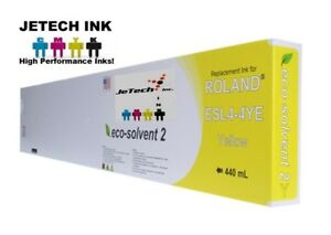 Roland Esl4 4 Eco solvent Max2 Compatible 440ml Ink Cartridge Yellow