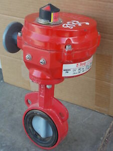 Bray Series 70 70 0052 11300 536 Electric Actuator Butterfly Valve