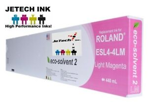 Roland Esl4 4 Eco solvent Max2 Compatible 440ml Ink Cartridge Light Magenta