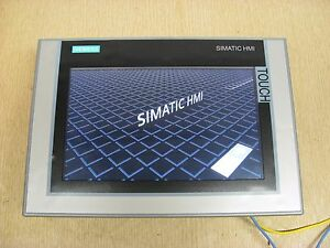 Siemens Simatic Hmi Tp900 6av2 124 0jc01 0ax0 9 Color Comfort Touch Panel Used