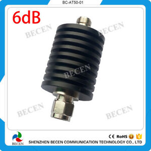 50w N Attenuator 6db Male To Female Rf Fixed Coaxial Dc To 3ghz