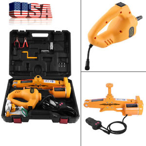 Automotive Electric Jack Lifting W Impact Wrench 125mm 420mm 3 Ton 12v Dc