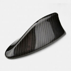 Universal Fitted Real Carbon Fiber Roof Top Decorative Shark Fin Antenna A Style