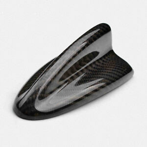 Universal Fitted Real Carbon Fiber Roof Top Decorative Shark Fin Antenna B Style