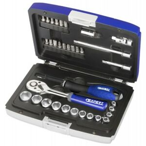 Expert By Facom 34 Piece 1 4 Dr Metric Socket Set Ratchet Accessories E194672
