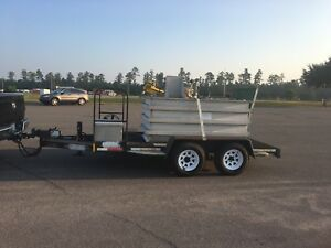 Alkota 3242 Pressure Washer With 400 Gallon Water Tank On Tandem Axle Trailer