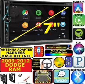 2009 2012 Dodge Ram Nav Bluetooth Cd dvd Carplay Android Auto Car Radio Stereo
