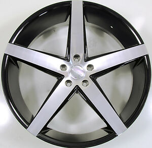 Rosso Affinity 22 X 8 5 Black Rims Wheels Lincoln Mkx 07 Up 5x114 3 40