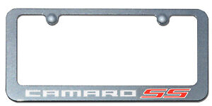 Camaro Ss Cyber Grey Paint Matched License Frame Po76930