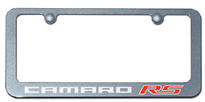Camaro Rs Cyber Grey Paint Matched License Frame Po76730