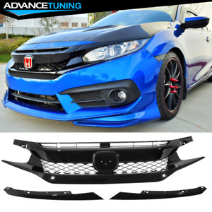 For 16 18 Honda Civic Fk8 Type r Abs Front Bumper Grille Hood Mesh Grill Guards