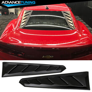 For 16 19 Chevy Camaro Rear Window Louvers Visors Sun Rain Guards