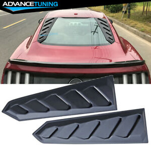 For 15 18 Ford Mustang Rear Window Louvers Visors Sun Rain Guards
