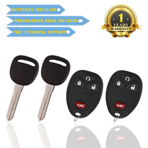 2 Keyless Entry Remote Control Car Key Fob Ouc60270 For 2007 2014 Tahoe Chevy