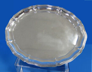 800 Silver 12 Oval Serving Tray Made By Alexander Sturm Free Shipping