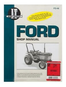 Shop Manual Ford 1120 1220 1320 1520 1720 1920 2120 Tractor