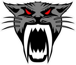 g142 Arctic Cat Head Grey Racing Decal Sticker Fully Laminated Vinyl