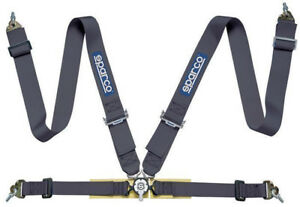 Sparco Competition Fia 4 Point Snap In 3 Seat Belt Harness With Camlock Black