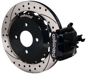 Wilwood Disc Brake Kit Rear Honda Civic Del Sol 11 Drilled Rotors Black Caliper