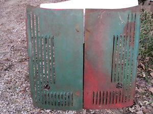 Oliver 70 Tractor Front Hood Engine Steel Side Cover Curtain Panel Set