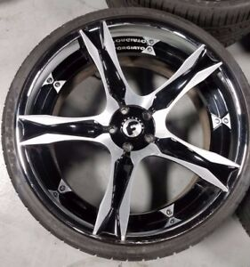 Used 22 Forgiato Cavita Ecl Concaved 3 piece Wheels Tires Bmw 645 650 M6